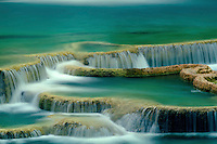 Travertine terraces below Havasu Falls <br />
