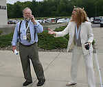 26 August 2007: Hall of Fame Director of Museum and Archives Jack Huckel and Director of Operations Kathryn Dailey. The National Soccer Hall of Fame Induction Ceremony was held at the National Soccer Hall of Fame in Oneonta, New York.