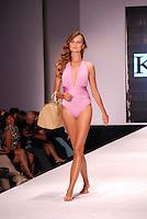 Kanomi Swimwear-Venezula Model, Elena Kurnosova, at Miami Beach International Fashion Week, Miami Beach Convention Center, Miami, FL - March 3, 2011