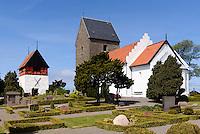 Romanische Ruts Kirke (ca.1200) in Rutsker auf der Insel Bornholm, D&auml;nemark, Europa<br /> Romanesque Ruts Kirke (1200) in Rutsker, Isle of Bornholm, Denmark