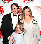 Matthew Broderick, Sarah Jessica Parker and James Wilke Broderick.attending the Broadway Opening Night After Party for  'Nice Work If You Can Get It' at the Mariott Marquis  on 4/24/2012 in New York City.