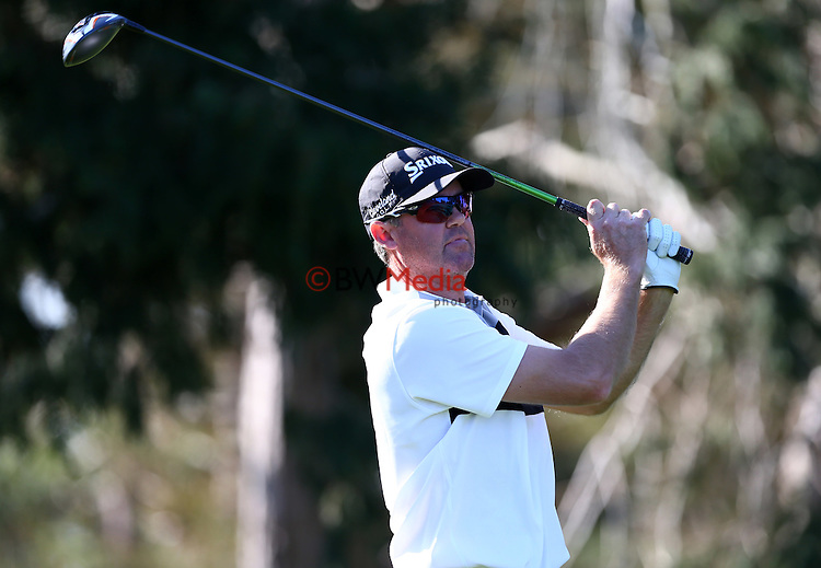 Mark Brown during Round Two of the Charles Tour Carrus Open, Tauranga Golf Course, Tauranga, New Zealand. Friday 26 September 2014 Photo: Simon Watts/www.bwmedia.co.nz <br /> All images &copy; NZ Golf and BWMedia.co.nz