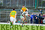 Brian Sugrue South Kerry in action against David O'Sullivan Legion at the Kerry County Senior Football Final at Fitzgerald Stadium on Sunday.