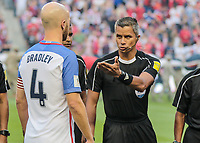 Harrison, N.J. - Friday September 01, 2017:   Michael Bradley, John Pitti during a 2017 FIFA World Cup Qualifying (WCQ) round match between the men's national teams of the United States (USA) and Costa Rica (CRC) at Red Bull Arena.