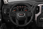 Car pictures of steering wheel view of a 2019 GMC Sierra-1500 WT 4 Door Pick-up Steering Wheel