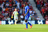 Wes Morgan of Leicester City is given a red card and walks off towards the dressing room during AFC Bournemouth vs Leicester City, Premier League Football at the Vitality Stadium on 15th September 2018