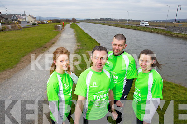 Pictured are runners taking part in the Tralee International Marathon on March 16th are l-r: Marie Kenny (Mallow, Cork) Francie Houlihan (Tralee) Liam Horan (Tralee) and Joanne Allman (Tralee)..