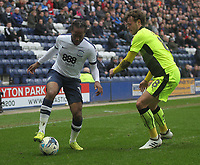 Preston North End's Daniel Johnson takes on Reading's John Swift<br /> <br /> Photographer Mick Walker/CameraSport<br /> <br /> The EFL Sky Bet Championship - Preston North End v Reading - Saturday 11th March 2017 - Deepdale - Preston<br /> <br /> World Copyright &copy; 2017 CameraSport. All rights reserved. 43 Linden Ave. Countesthorpe. Leicester. England. LE8 5PG - Tel: +44 (0) 116 277 4147 - admin@camerasport.com - www.camerasport.com
