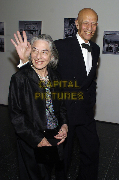 "ADA KATZ & ALEX KATZ .The 39th annual ""The Party in the Garden"" at the Museum of Modern Art, New York City, New York, USA..May 15th, 2007.half length black dinner suit tuxedo hand waving coat .CAP/ADM/BL.©Bill Lyons/AdMedia/Capital Pictures *** Local Caption ***"