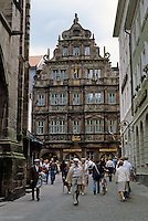 Heidelberg: Knight St. George residence--decorated  facade, 1592. Late Renaissance. Photo '87.