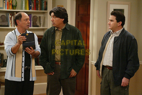 """CHEECH MARIN, GEORGE LOPEZ & VALENTE RODRIGUEZ.in George Lopez.""""Guess WhoÍs Coming to Dinner, Honey"""" .After learning Benny had a one-night fling with a co-worker 35 years ago, George believes he has finally found his father.Filmstill - Editorial Use Only.Ref: FB.sales@capitalpictures.com.www.capitalpictures.com.Supplied by Capital Pictures."""