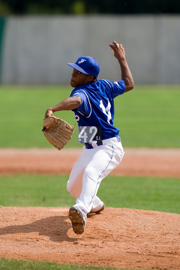 BASEBALL - GREEN ROLLER PARK - PRAGUE (CZECH REPUBLIC) - 24/06/2008 - PHOTO: CHRISTOPHE ELISE.PITCHER EURI GARCIA-MARTINEZ (TEAM FRANCE)