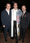 Michael Grandage, Matt Wall & Rob Ashford.attending the Broadway Opening Night Actors' Equity Gypsy Robe Ceremony for recipient Matt Wall in 'EVITA' at the Marquis Theatre in New York City on 4/6/2012