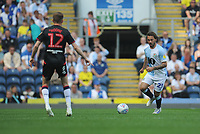 Blackburn Rovers' Bradley Dack under pressure from Bolton Wanderers' Craig Noone<br /> <br /> Photographer Kevin Barnes/CameraSport<br /> <br /> The EFL Sky Bet Championship - Blackburn Rovers v Bolton Wanderers - Monday 22nd April 2019 - Ewood Park - Blackburn<br /> <br /> World Copyright © 2019 CameraSport. All rights reserved. 43 Linden Ave. Countesthorpe. Leicester. England. LE8 5PG - Tel: +44 (0) 116 277 4147 - admin@camerasport.com - www.camerasport.com