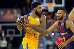 League ACB-ENDESA 2017/2018 - Game: 12.<br /> FC Barcelona Lassa vs Herbalife Gran Canaria: 77-88.<br /> DJ Seeley vs Adan Hanga.