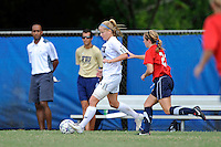 2 October 2011:  FIU midfielder/forward Nicole DiPerna (16) moves the ball while being pursued by South Alabama midfielder Morgan Motes (23) in the second half as the FIU Golden Panthers defeated the University of South Alabama Jaguars, 2-0, at University Park Stadium in Miami, Florida.