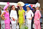 Amy Murphy, Bandon, Joann Murphy, Kilgarvan, Carol Kennelly, Tralee, Elaine Kelleher, Kilgarvan, and Mags Hayes, Kilgarvan pictured at Galway Races ladies day on Thursday at Ballybrit racecourse.