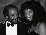 Quincy Jones and Donna Summer on January15,  1983 at the Savoy Theater in New York City.