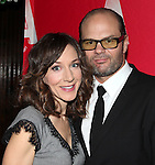 Seana Kofoed & Chris Bauer attending the Opening Night After Party for the Atlantic Theater Company's 'What Rhymes with America' at Moran's in New York on December 12, 2012