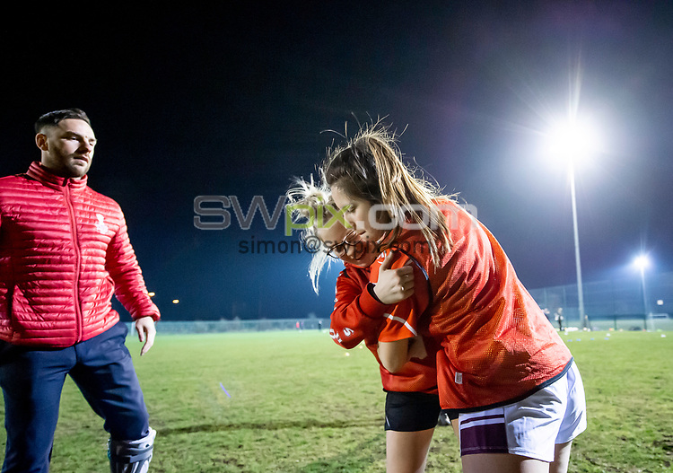 Picture by Allan McKenzie/SWpix.com - 26/02/2019 - Rugby League - CreatedBy RLWC2021 - Castleford Tigers Women - DeLacy Academy, Knottingley, England - Castleford Tigers Women train with Luke Gale.
