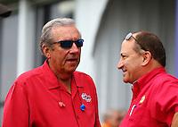 Apr 26, 2015; Baytown, TX, USA; NHRA team owner Don Schumacher during the Spring Nationals at Royal Purple Raceway. Mandatory Credit: Mark J. Rebilas-