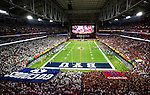 16FTB at Arizona 3922<br /> <br /> 16FTB at Arizona - Cactus Kickoff<br /> <br /> BYU Football defeated Arizona 18-16 in the Cactus Kickoff hosted at the University of Phoenix Stadium in Glendale, Arizona. It was also the first win for new Head Coach Kalani Sitake. <br /> <br /> September 3, 2016<br /> <br /> Photo by Tabitha Sumsion/BYU<br /> <br /> &copy; BYU PHOTO 2016<br /> All Rights Reserved<br /> photo@byu.edu  (801)422-7322