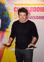 Patrick BRUEL - Representation Robert Charlebois au theatre Bobino - 11 avril 2016 - Paris - France
