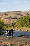 Yakima, Yakima Greenway, Yakima River, walkers, runners, riverfront trail, natural area, Eastern Washington, Yakima County, Washington State, Pacific Northwest, United States,