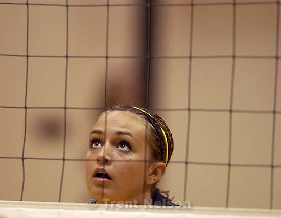 Cottonwood High School volleyball player Connie Dangerfield. 09.03.2002, 4:09:44 PM<br />
