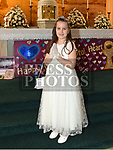 Alicia McQuillan from St Brigids school who recieved first holy communion in Our Lady of Lourdes church. Photo:Colin Bell/pressphotos.ie