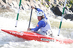 28th September 2019; Canal Olimpic del Segre, La Seu d'Urgell, Catalonia, Spain; ICF Canoe Slalom, World Championships, MC1 Men's Canoe canoe. Picture show Michal Martikan (SVK) in action