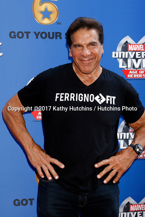LOS ANGELES - JUL 8:  Lou Ferrigno at the Marvel Universe Live Red Carpet at the Staples Center on July 8, 2017 in Los Angeles, CA