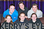 Bright sparks: At the Commercial Rowing Club Table Quiz in the Killarney Oaks Hotel on Friday. Front l-r: Mairead OSullivan, Rebecca Williams and Simone McCarthy. Back l-r: Michelle Fleming, Elaine ODonoghue and Aisling ODonoghue. .