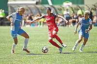 Portland, OR - Saturday August 05, 2017: Cami Privett, Christine Sinclair during a regular season National Women's Soccer League (NWSL) match between the Portland Thorns FC and the Houston Dash at Providence Park.