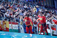 Spain's supporters dressed as the characters from the movie 'The Incredibles' during 23rd Men's Handball World Championship preliminary round match.January 14,2013. (ALTERPHOTOS/Acero) /NortePhoto