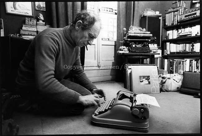 Jacques Sternberg, French writer at home in 1979.