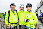 Pat O'Connor Jerry Fagin and Mary Nolan at the St Kieran's GAA Cycle Tour on Sunday starting in the  Desmonds GAA Grounds