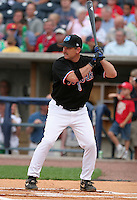 Norfolk Tides coach Howard Johnson during the home run derby before the Triple-A All-Star Game at Fifth Third Field on July 10, 2006 in Toledo, Ohio.  (Mike Janes/Four Seam Images)
