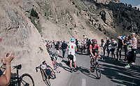 Jurgen Roelandts (BEL/Lotto-Soudal) up the Col d'Izoard (HC/2360m/14.1km/7.3%)<br /> <br /> 104th Tour de France 2017<br /> Stage 18 - Briancon › Izoard (178km)