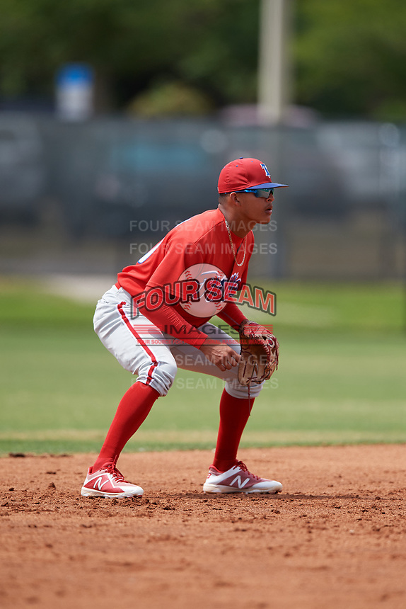 Philadelphia Phillies Arquimedes Gamboa (30) during a Minor League Spring Training game against the Toronto Blue Jays on March 30, 2018 at Carpenter Complex in Clearwater, Florida.  (Mike Janes/Four Seam Images)