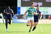 Ben Stevenson of Newcastle Falcons runs in a try in the second half. Pre-season friendly match, between Doncaster Knights and Newcastle Falcons on August 25, 2018 at Castle Park in Doncaster, England. Photo by: Patrick Khachfe / Onside Images