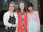 Caitlyn Smith, Roisín Feehan and Sunnita Linscheid who were confirmed at the church of the Immaculate conception Termonfeckin. Photo: Colin Bell/pressphotos.ie