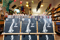 "Pictured: Copies of the latest Pixies album in Spillers Records. Friday 13 September 2019<br /> Re: American Band Pixies have signed copies of their latest album ""Beneath The Eyrie"" at Spillers Records, the oldest record shop in the world, in Morgan Arcade, Cardiff, Wales, UK."