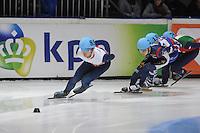SHORT TRACK: DORDRECHT: Sportboulevard, 13-02-2016, ISU World Cup Short Track Final 2015/2016, Richard Shoebridge (#85), ©photo Martin de Jong