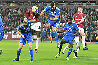 Michail Antonio scores the third Goal and celebrates during West Ham United vs Cardiff City, Premier League Football at The London Stadium on 4th December 2018