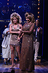 """Adrienne Warren and Tina Turner during the """"Tina - The Tina Turner Musical"""" Opening Night Curtain Call at the Lunt-Fontanne Theatre on November 07, 2019 in New York City."""