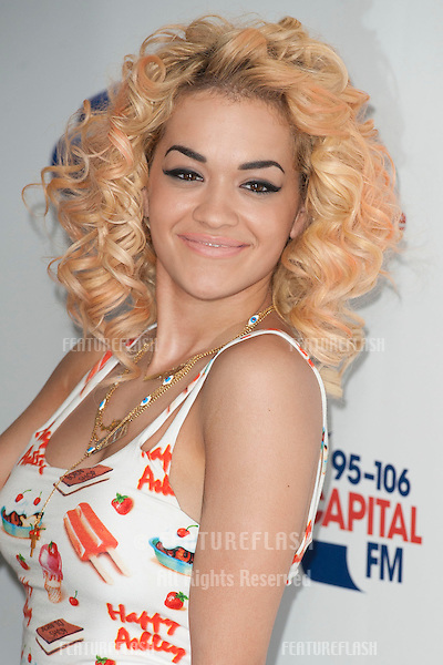 Rita Ora at the Capital Radio Summertime Ball, Wembley Stadium, London. 09/06/2012 Picture by: Simon Burchell / Featureflash.