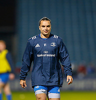 p28th February 2020; RDS Arena, Dublin, Leinster, Ireland; Guinness Pro 14 Rugby, Leinster versus Glasgow; James Lowe of Leinster warms up prior to kickoff