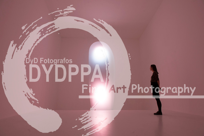 Mariko Mori with her work titled 'Tom Na H-lu II' 2006..Royal Academy of Arts presents Mariko Mori's first major exhibition in London since 1998 titled 'Rebirth', London, Great Britain, December 11, 2012. Photo by  i-Images / DyD Fotografos