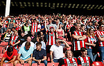 Sheffield Utd fans during the Championship match at Bramall Lane, Sheffield. Picture date 26th August 2017. Picture credit should read: Simon Bellis/Sportimage